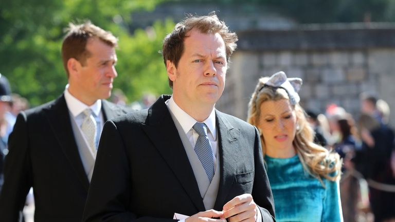 Tom Parker Bowles arrives at St George's Chapel