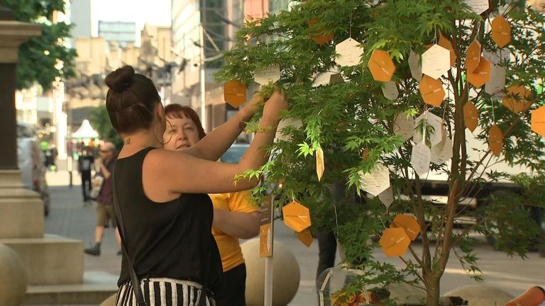 Trees of Hope in Manchester after the bombing