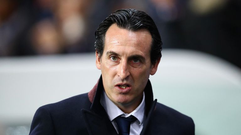 Unai Emery at Paris St Germain last October