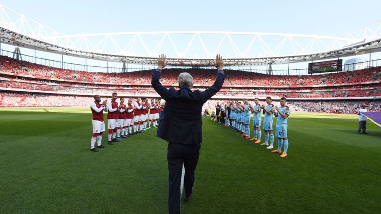 A guard of honour for departing Arsenal manager Arsene Wenger