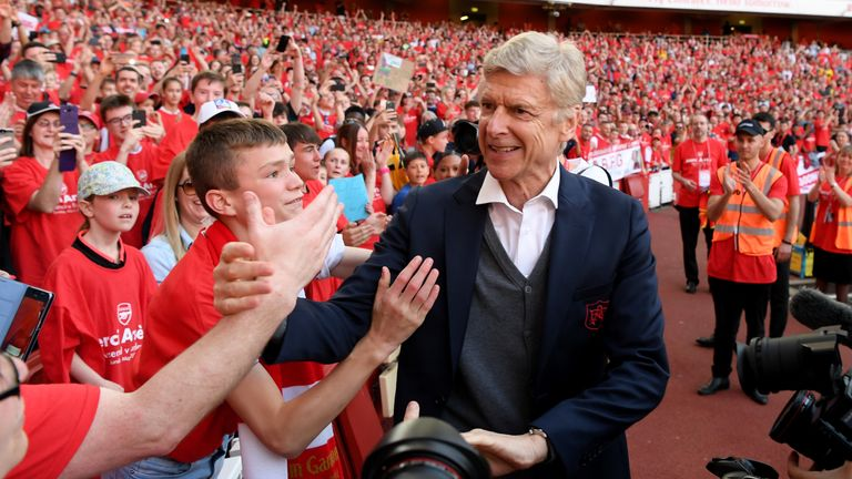 Wenger said he would 'miss' the club