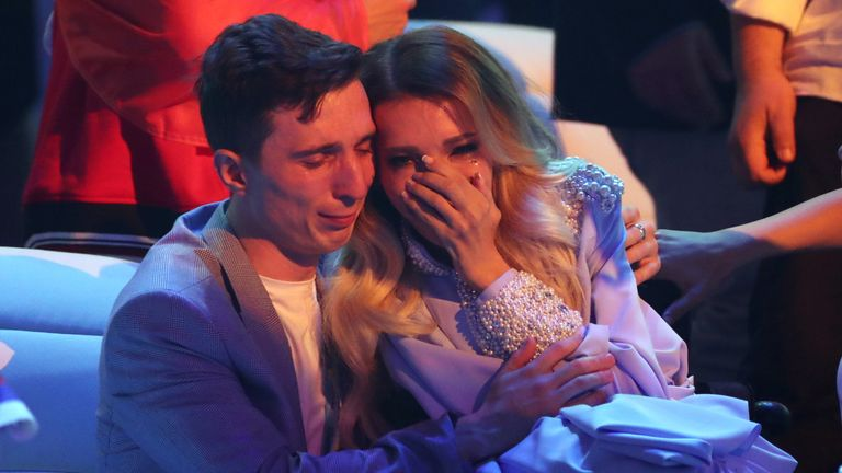 Yulia Samoylova cried after she failed to make the Eurovision final in 2018, having been banned from the UK in 2017