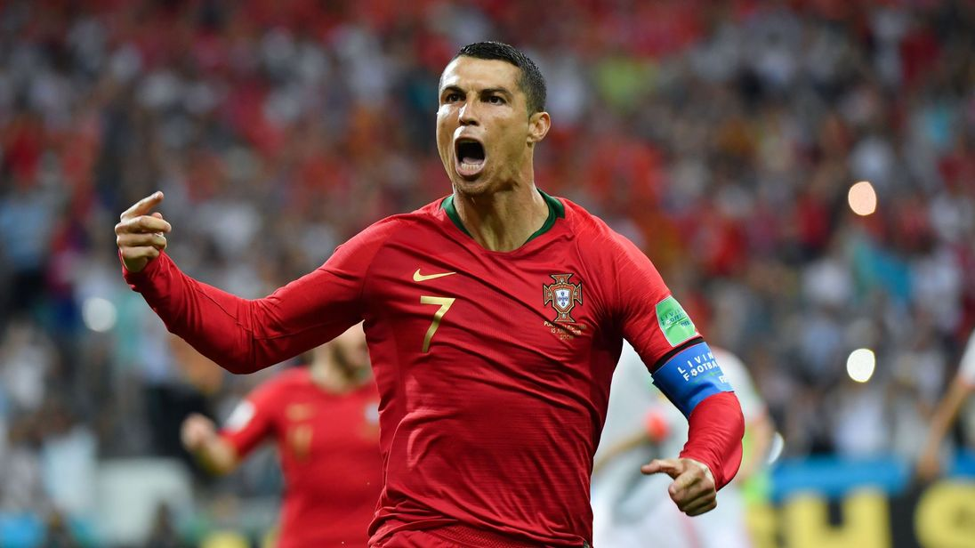 Cristiano Ronaldo Records Hat Trick vs. Spain