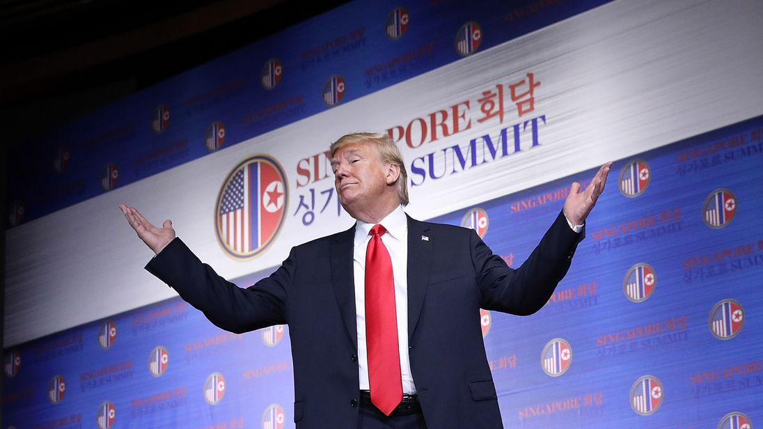 Donald Trump sums up his historic summit with Kim Jong Un