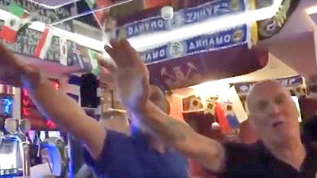 The Football Association has condemned a small group of what appear to be England fans after they were filmed singing anti-Semitic songs