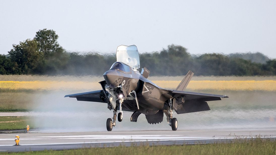 F-35 fighter jet. Pic: MoD