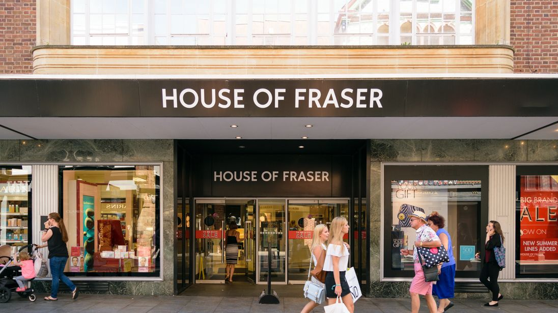 House Of Fraser Store Closures To Cost 6000 Jobs