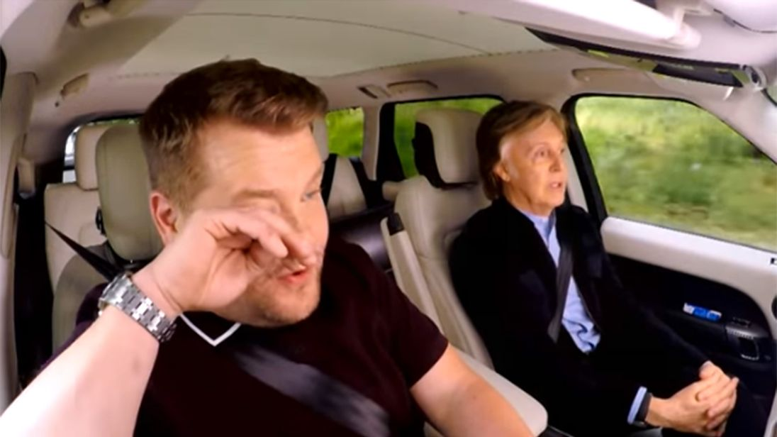 Paul McCartney sings the Beatles' hits in Carpool Karaoke