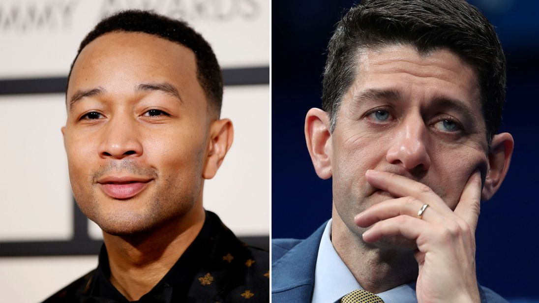 John Legend calls out Paul Ryan for Father's Day tweet