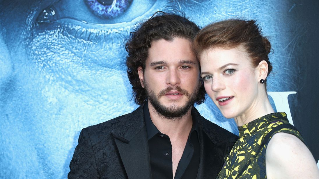 Kit Harrington and Rose Leslie from 'Game of Thrones' got married today