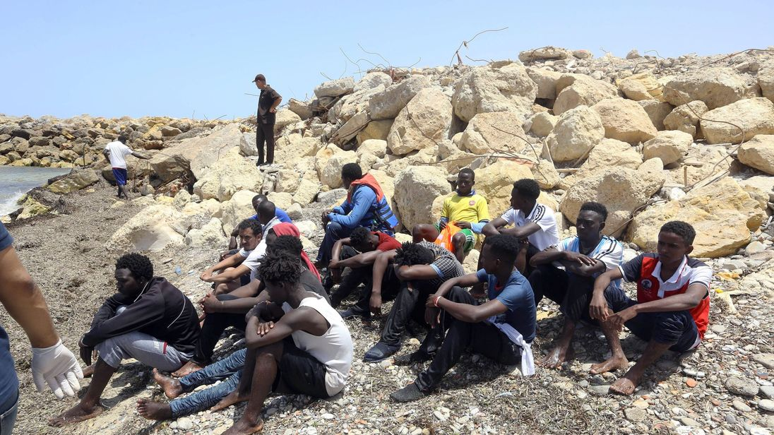 About Libya, sinking with migrants