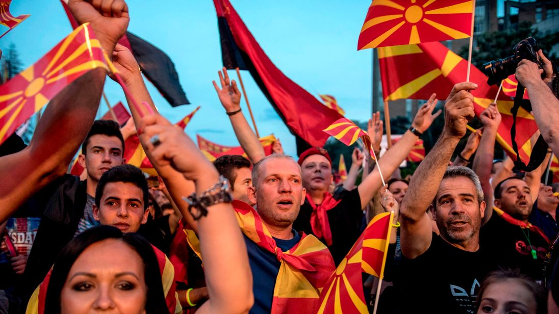 Protests against the name change have taken place in Skopje