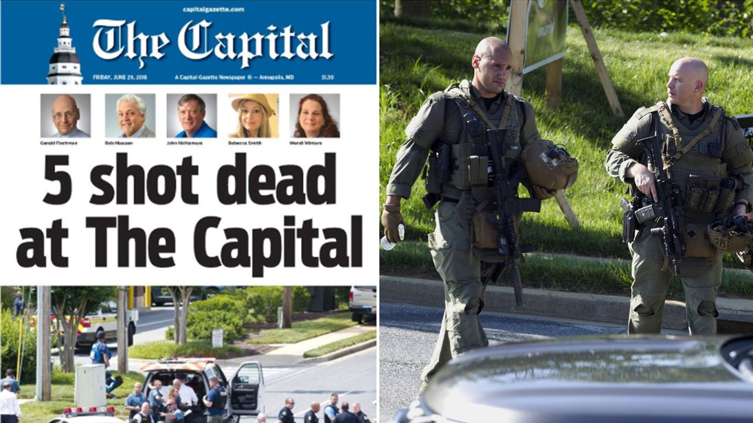Suspect in Maryland newspaper shooting charged with 5 counts of murder