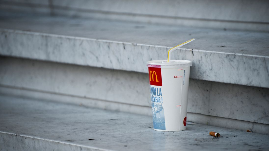 McDonald's is ditching plastic straws in the United Kingdom  and Ireland