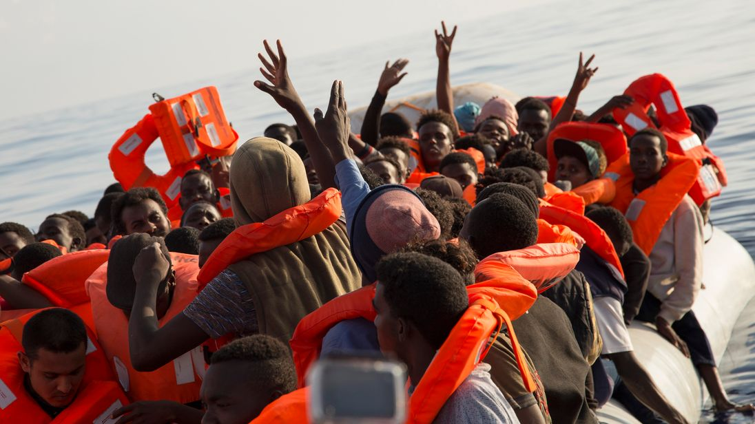 Dozens of migrants feared dead after boat capsizes off Libya