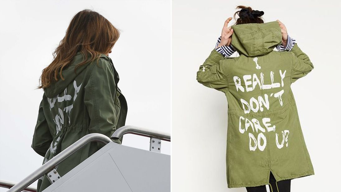 Melania Trump wears 'I really don't care' jacket to visit DETAINED children