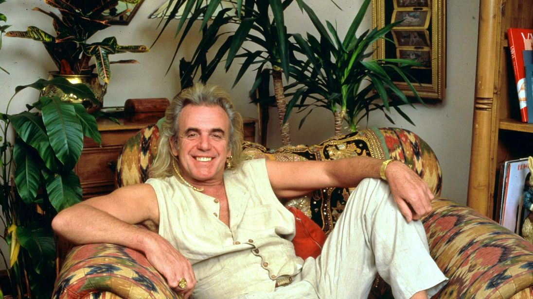 Peter Stringfellow at his home in 1996