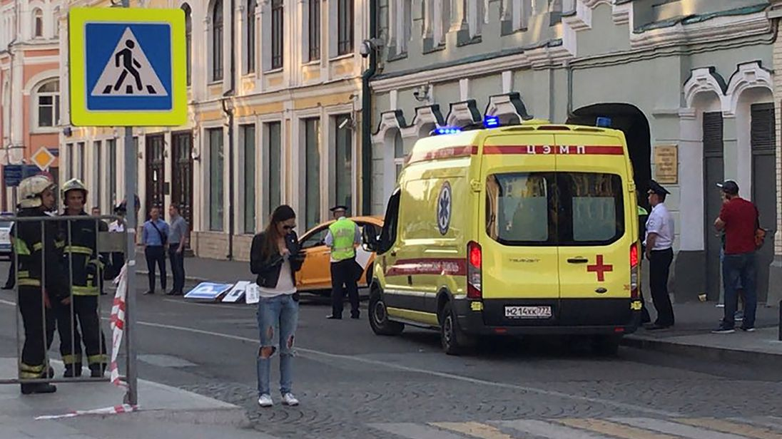 Moscow police say eight hurt after Taxi drives into crowd