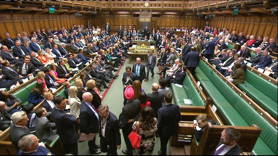 SNP MPs empty their benches in the House of Commons