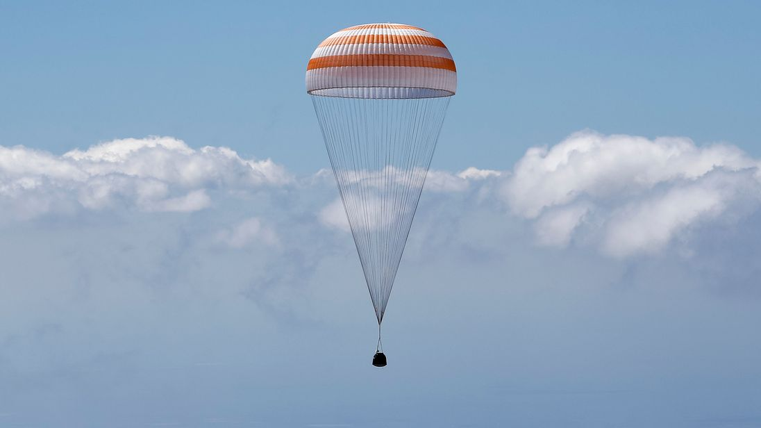 Russian space capsule lands in Kazakhstan