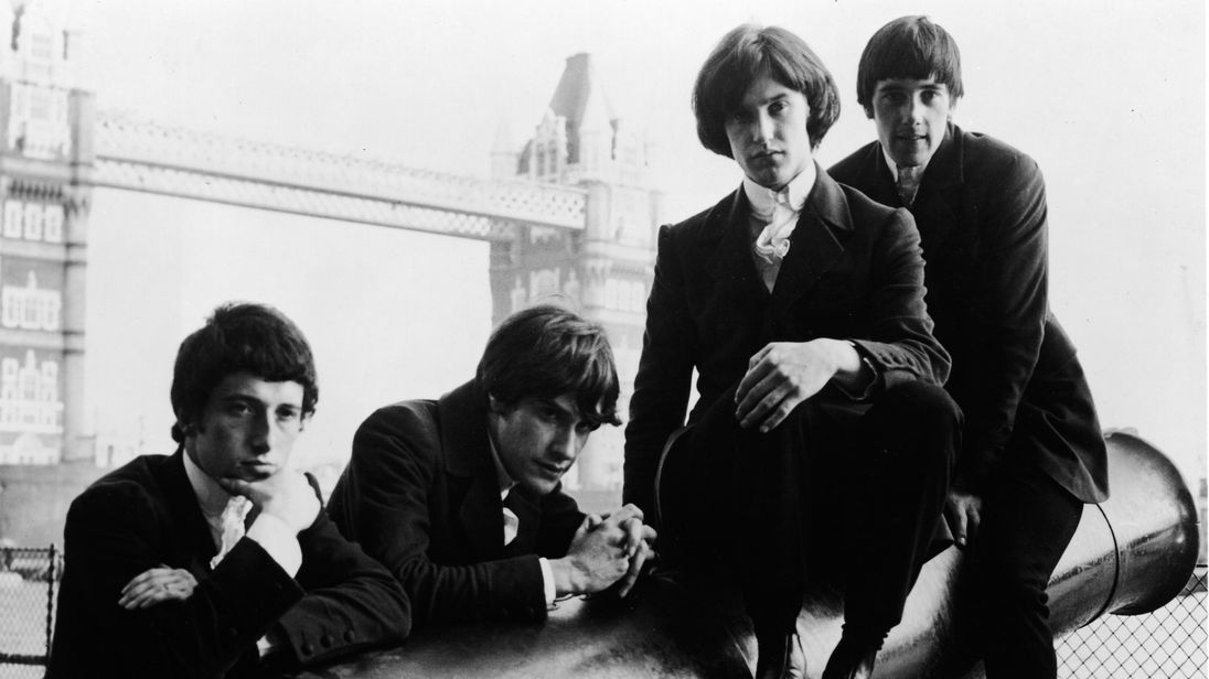 The Kinks, (L-R) Peter Quaife, Ray Davies, Dave Davies, and Mick Avory in 1966