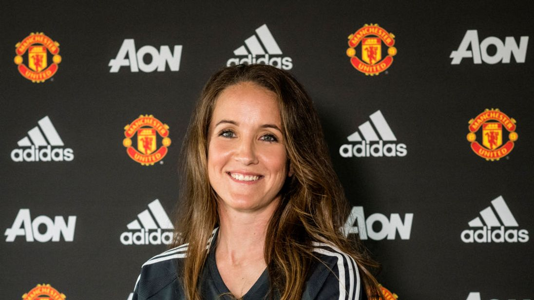 Casey Stoney is the new head coach of Manchester United Women