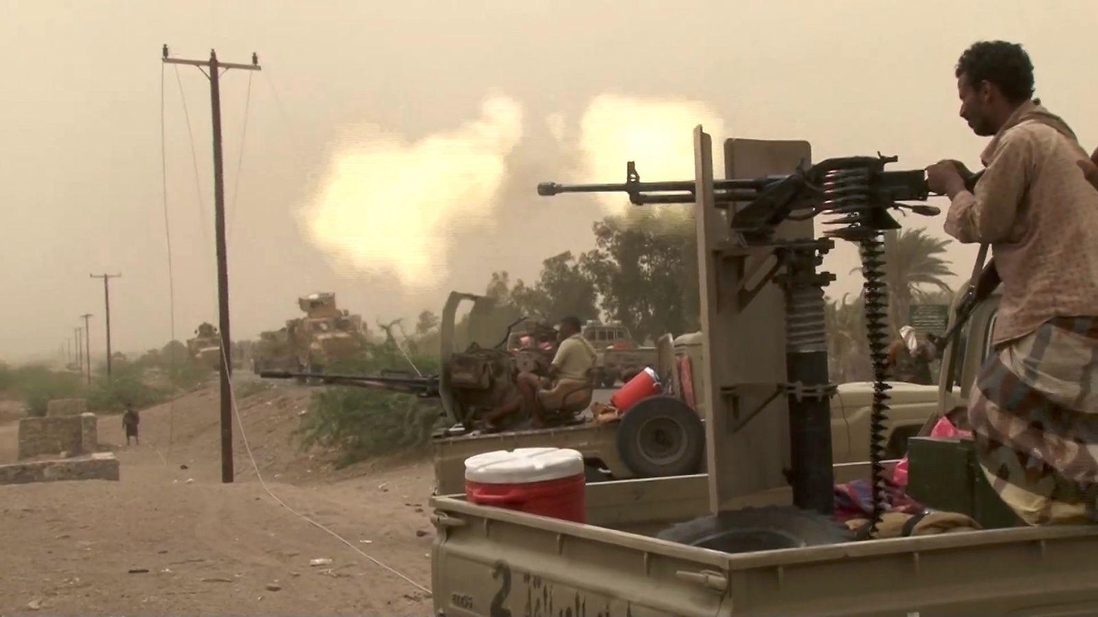 Yemen conflict: Saudi-led forces 'seize control of Hodeida airport'