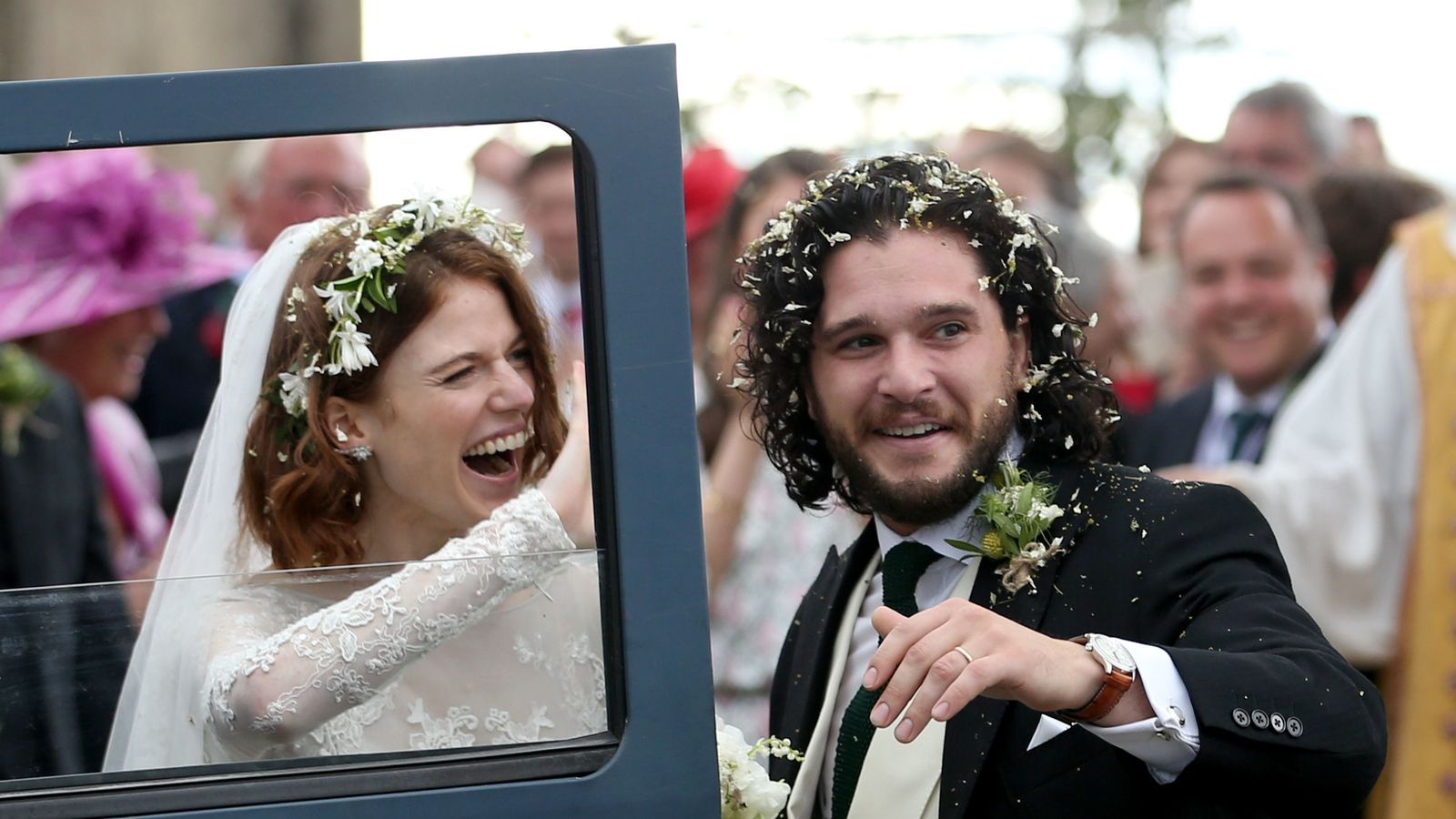 Game Of Thrones stars Kit Harington and Rose Leslie marry at family castle