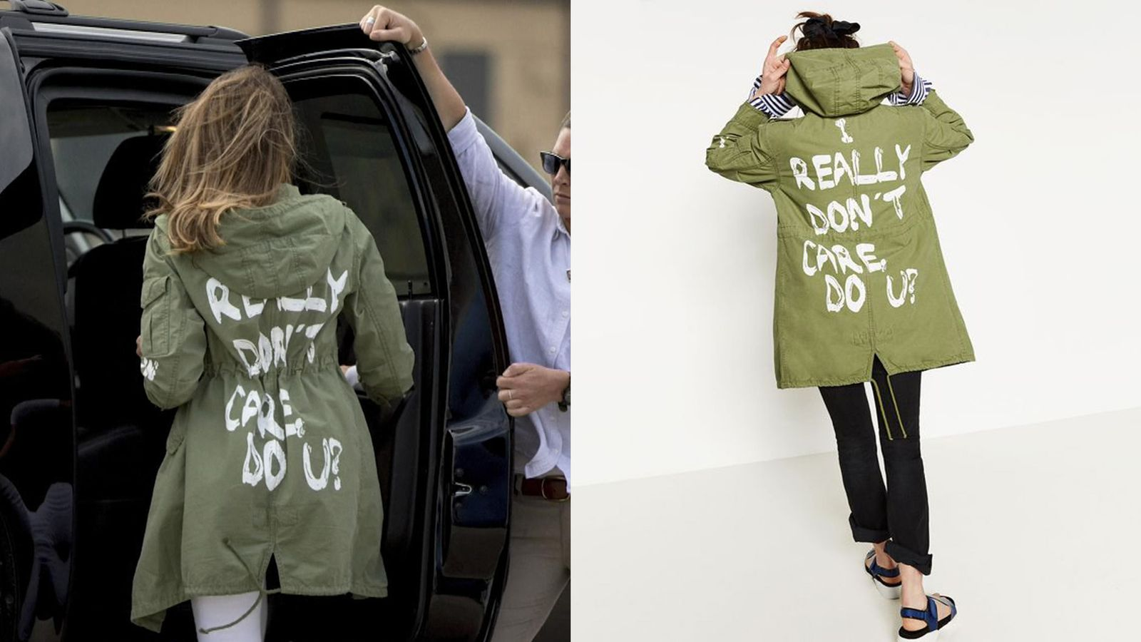 Trump defends Melania's 'don't care' jacket