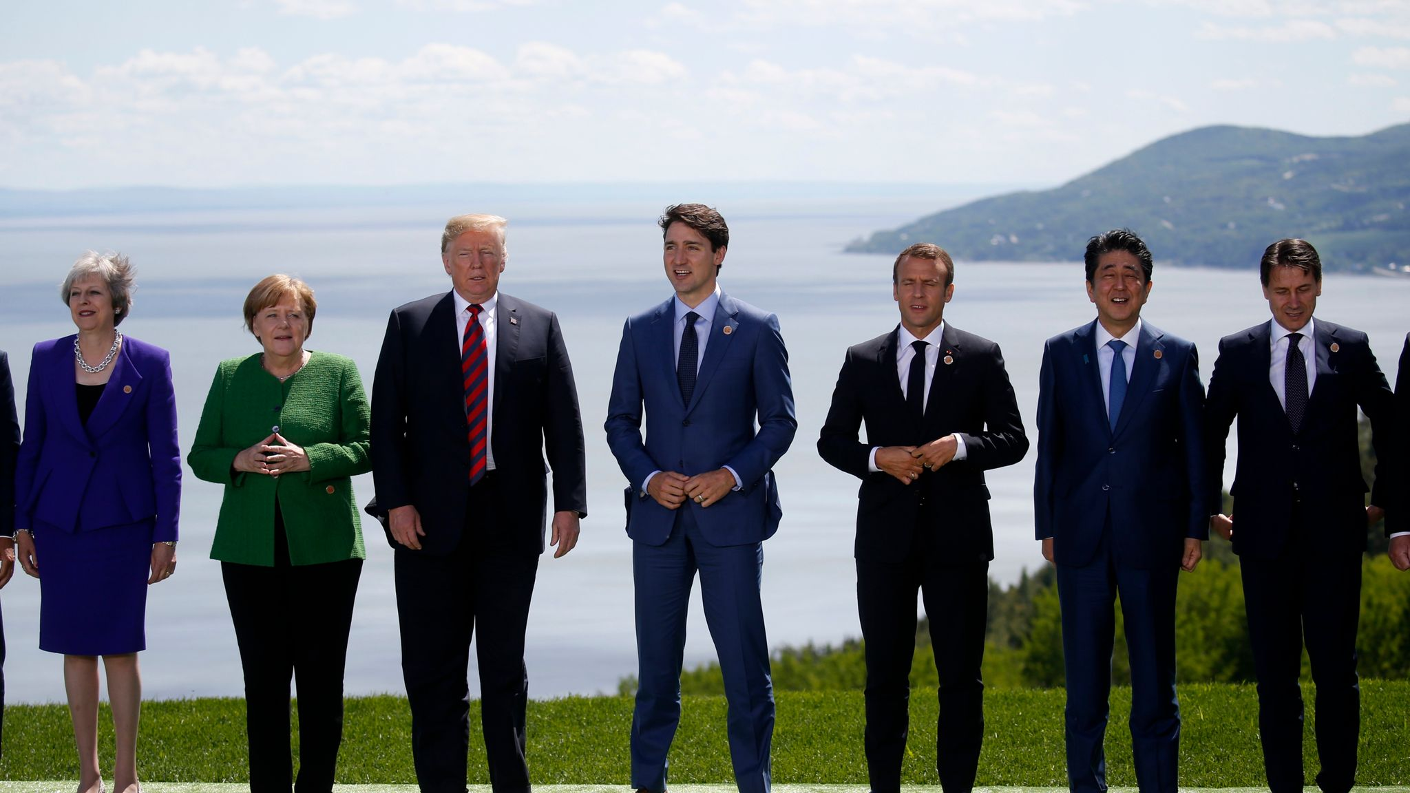 G7 Leaders Reject Donald Trump S Call For Russia To Be Reinstated To Group World News Sky News