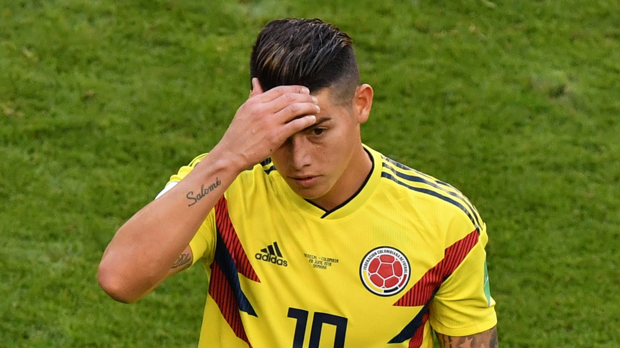 James Rodriguez Injury Concern For Colombia Sky News