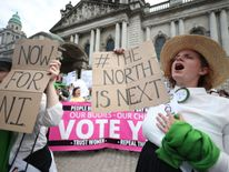 The focus has shifted to Northern Ireland after the Republic's referendum in May