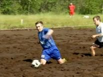 With the World Cup finally underway, football-loving Russians are getting dirty playing the beautiful game.