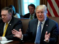 US President Trump holds a cabinet meeting at the White House in Washington