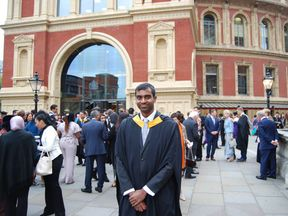 Abishek Rolands graduated from Imperial College London