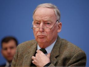 Alexander Gauland was taking a dip in a lake near his home
