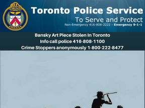 The Trolley Hunters piece has been stolen in Toronto. Pic: Toronto Police Service