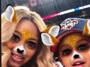 Beyonce poses with daughter Blue. Pic: Instagram/Beyonce