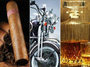 Cigars, Harley Davidson, Bourbon