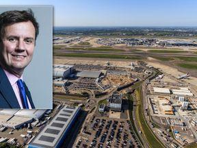 Gregg Hands and Heathrow. Pic: High Level/REX/Shutterstock