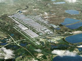 Artist's impression of how Heathrow could look with a third runway