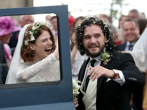 Kit Harington and Rose Leslie after they tied the knot