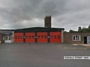 The fire station in Nelson, Lancashire, was robbed