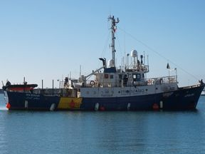 The Lifeline is currently carrying more than 230 migrants. Pic: Mission Lifeline