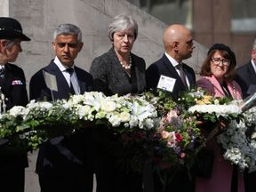 Theresa May and Sadiq Khan were among those who attended