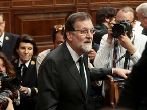 Mariano Rajoy admitted defeat before the no-confidence vote was counted