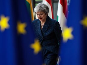 Theresa May in Brussels for the EU summit