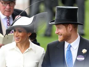Meghan and Harry attend Ascot Racecourse