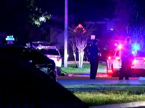The scene where four children were killed after being held hostage