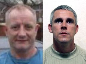 Paul Massey, left, was killed in 2015, while John Kinsella, right, was shot dead in May 2018